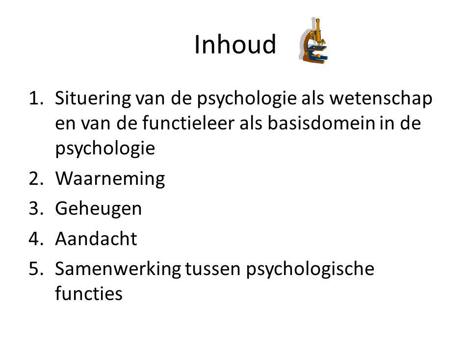 Inhoud Situering van de psychologie als wetenschap en van de functieleer als basisdomein in de psychologie.