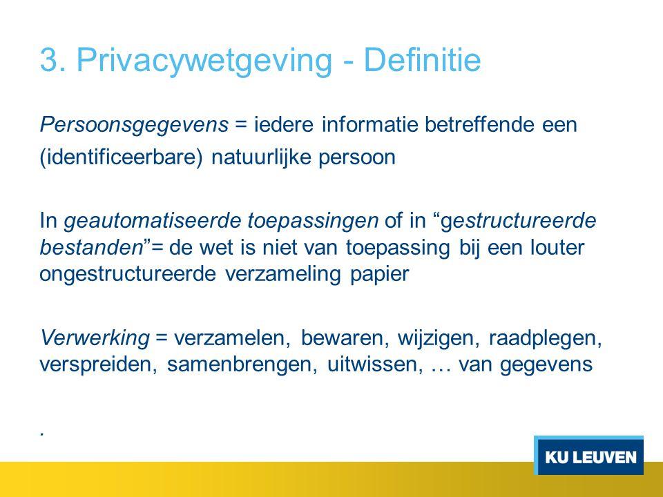 3. Privacywetgeving - Definitie