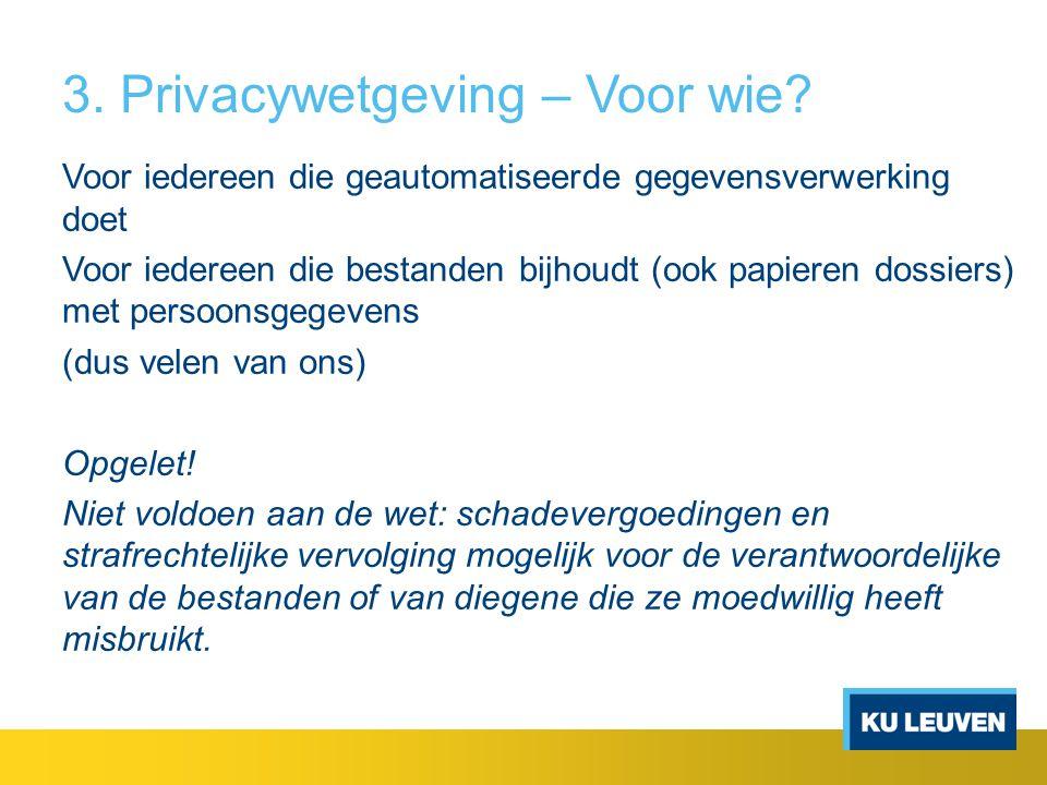 3. Privacywetgeving – Voor wie
