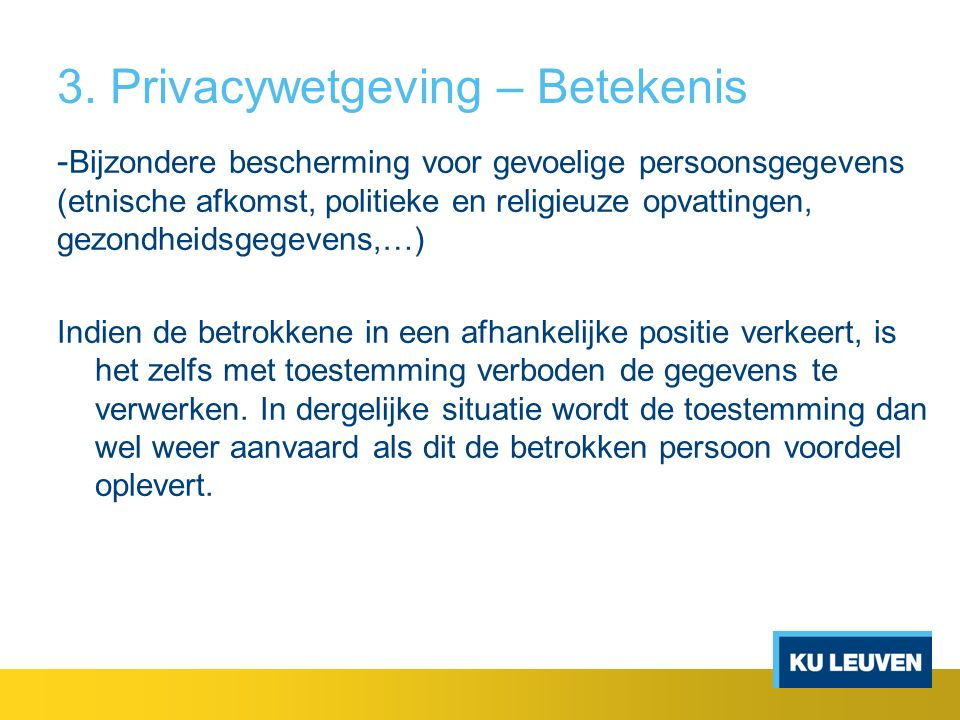 3. Privacywetgeving – Betekenis