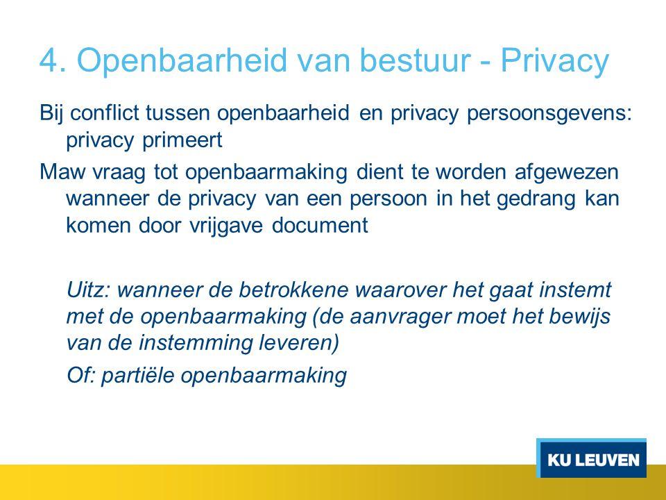 4. Openbaarheid van bestuur - Privacy