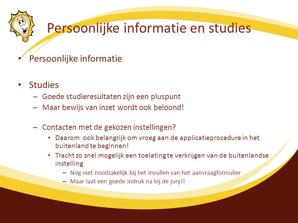 Persoonlijke informatie en studies