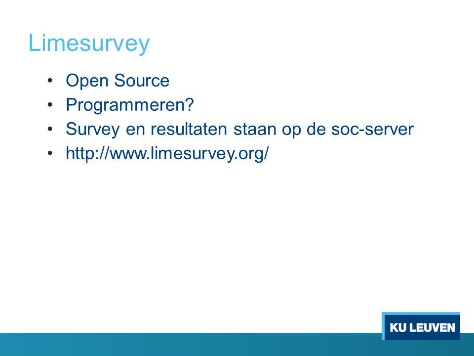 Limesurvey Open Source Programmeren