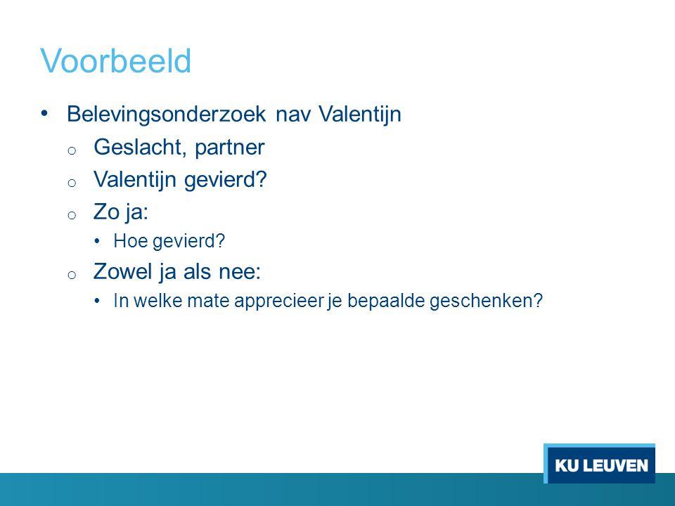 Voorbeeld Belevingsonderzoek nav Valentijn Geslacht, partner