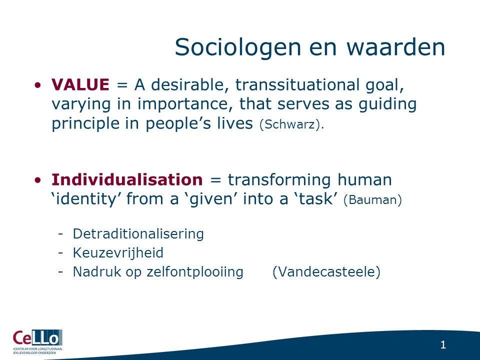 Gezinssociologen en waarden