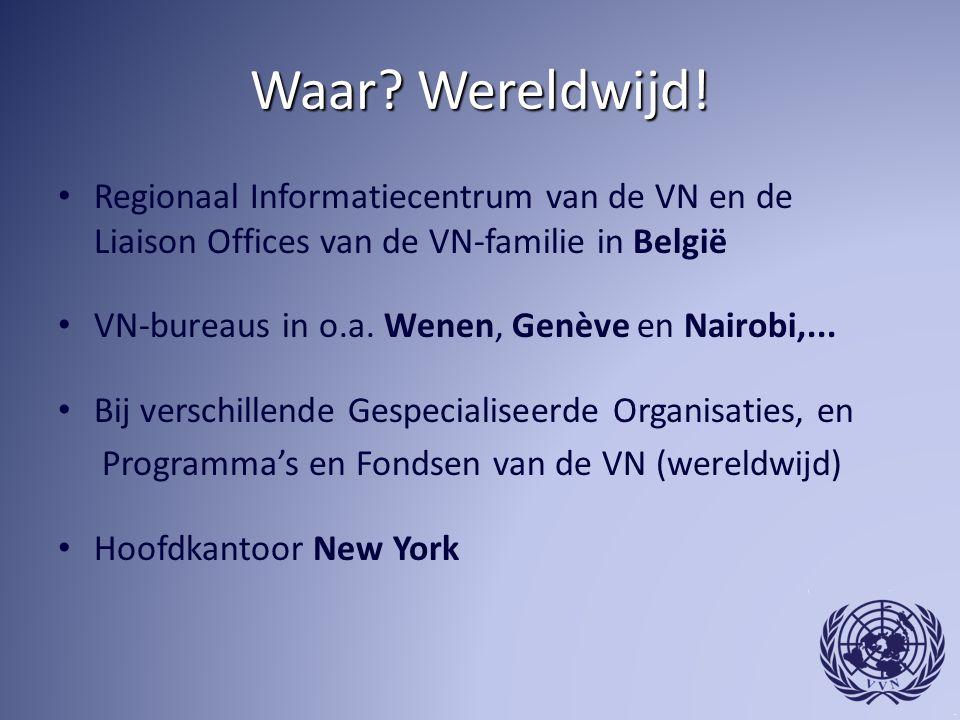 Waar Wereldwijd! Regionaal Informatiecentrum van de VN en de Liaison Offices van de VN-familie in België.