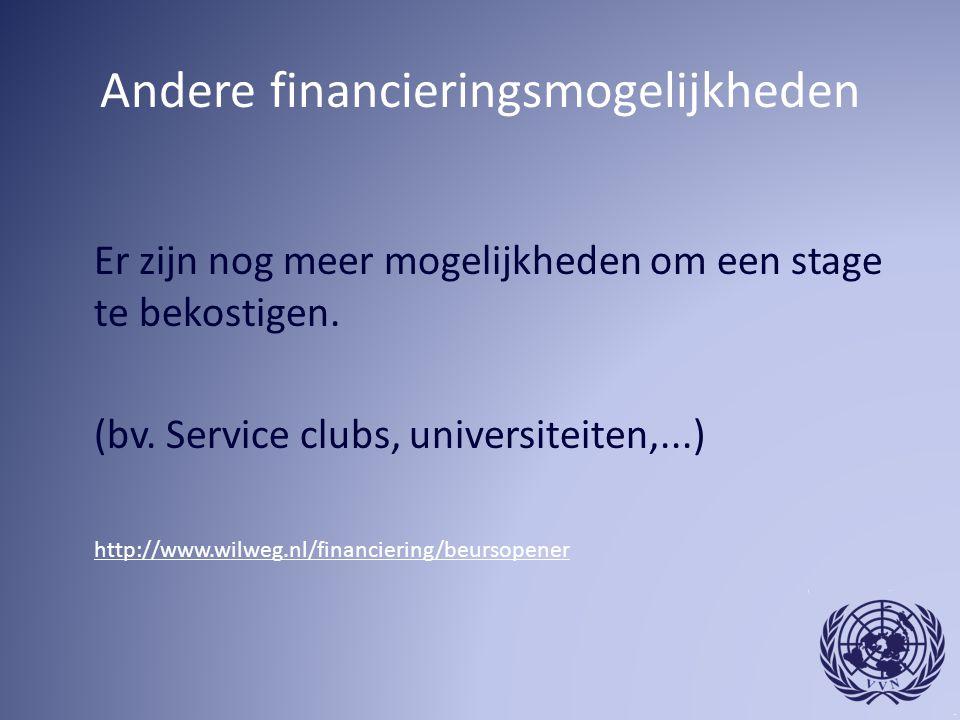 Andere financieringsmogelijkheden
