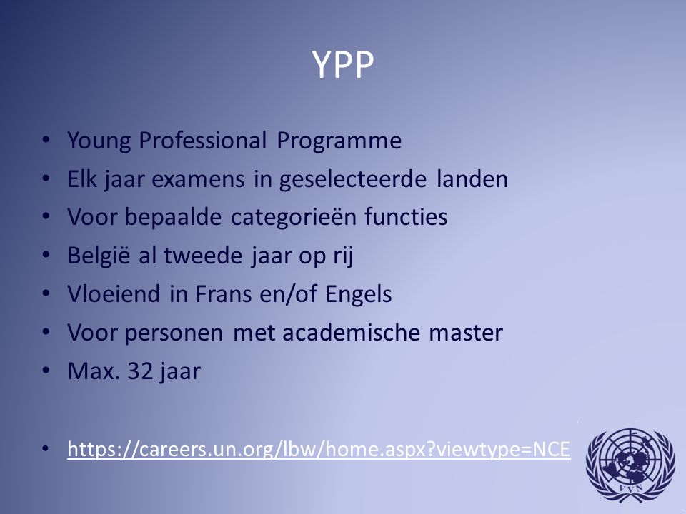YPP Young Professional Programme