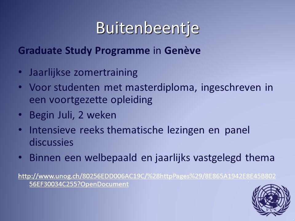 Buitenbeentje Graduate Study Programme in Genève