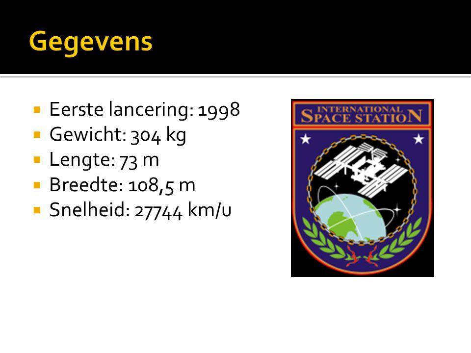 Gegevens Eerste lancering: 1998 Gewicht: 304 kg Lengte: 73 m