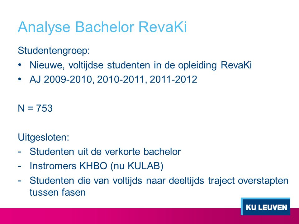 Analyse Bachelor RevaKi