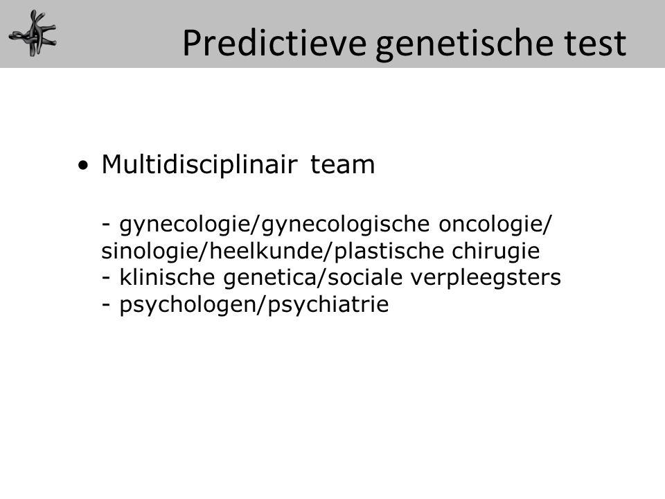 Predictieve genetische test