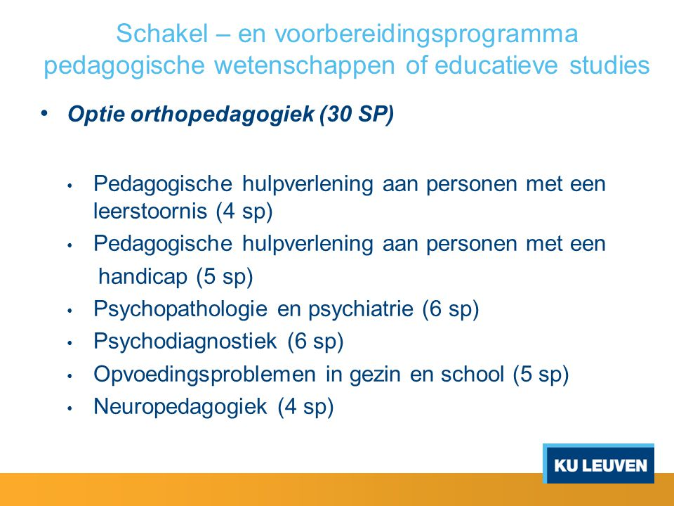 Schakel – en voorbereidingsprogramma pedagogische wetenschappen of educatieve studies