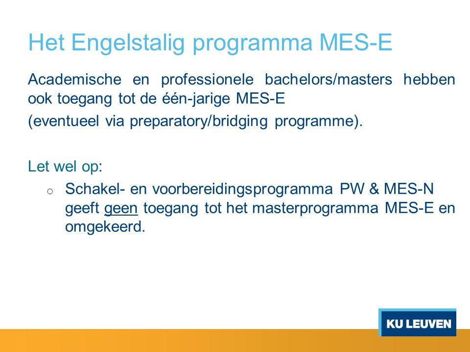 Het Engelstalig programma MES-E