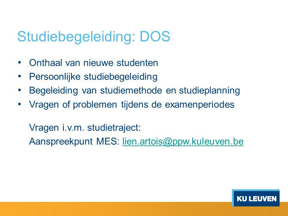 Studiebegeleiding: DOS