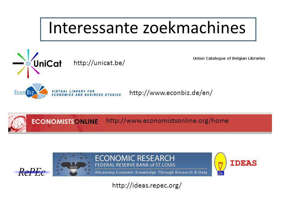 Interessante zoekmachines