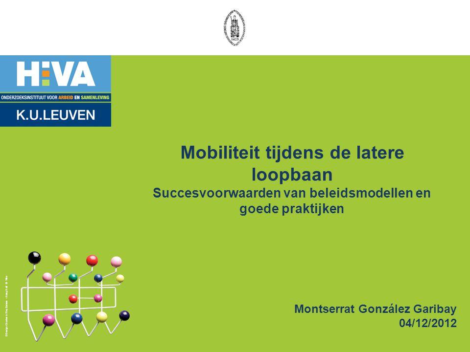 Mobiliteit tijdens de latere loopbaan Succesvoorwaarden van beleidsmodellen en goede praktijken
