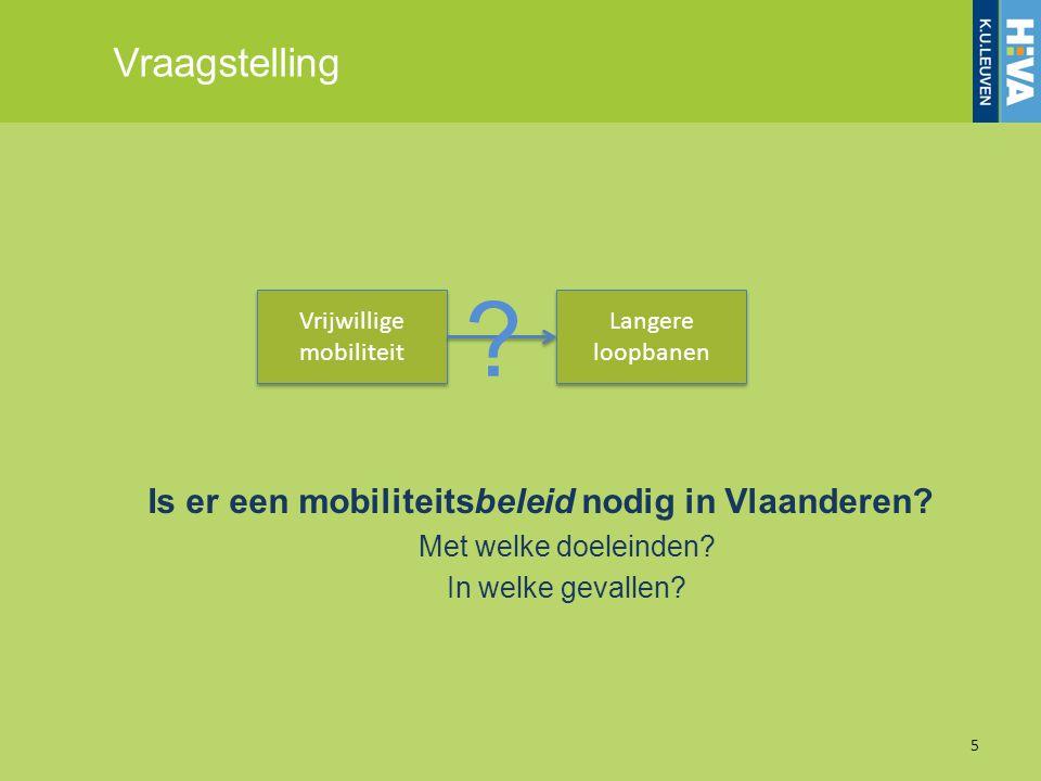 Is er een mobiliteitsbeleid nodig in Vlaanderen