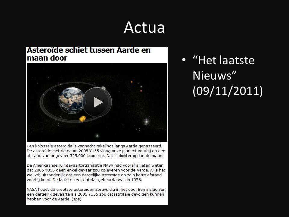 Actua Het laatste Nieuws (09/11/2011)