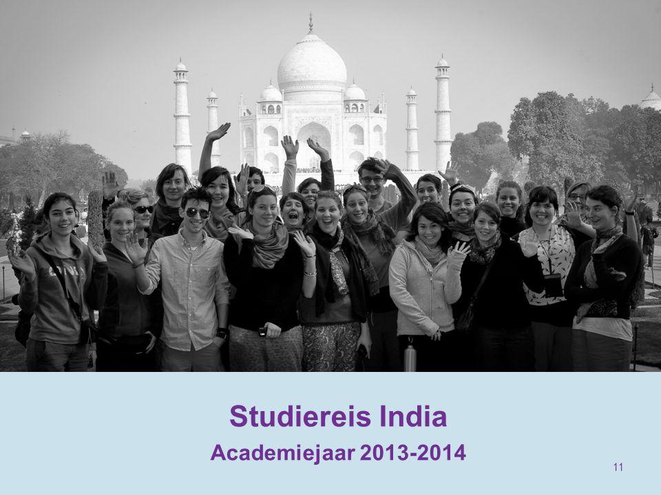 Studiereis India Academiejaar 2013-2014