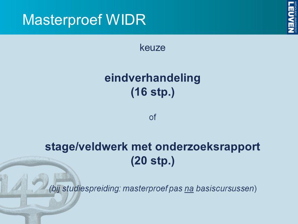 Masterproef WIDR eindverhandeling (16 stp.)