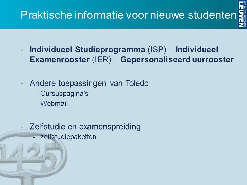 Praktische informatie voor nieuwe studenten