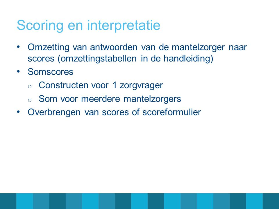 Scoring en interpretatie
