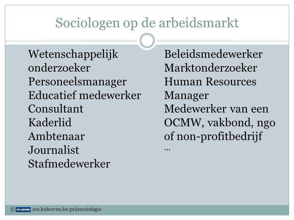 Sociologen op de arbeidsmarkt