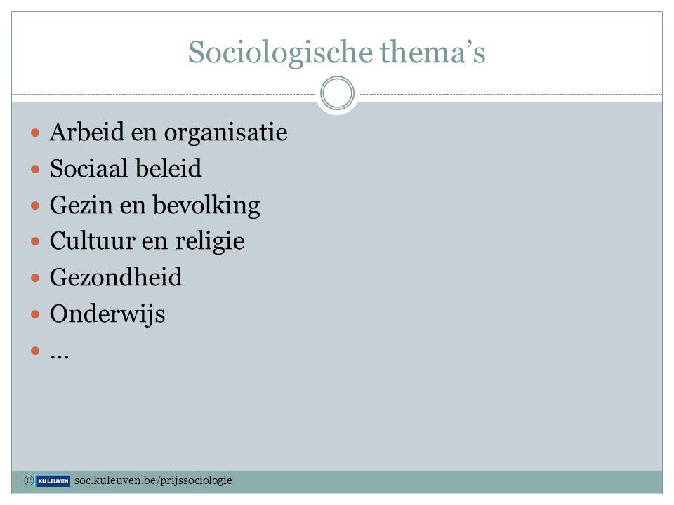 Sociologische thema's
