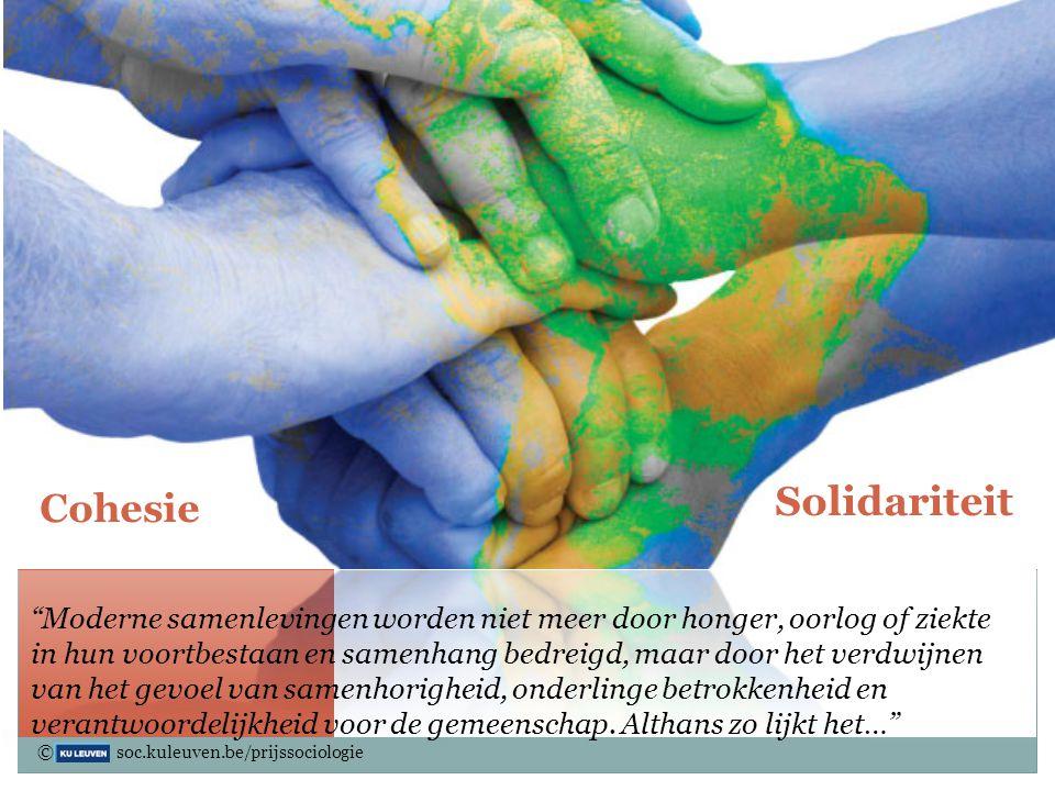 Solidariteit Sociale Cohesie