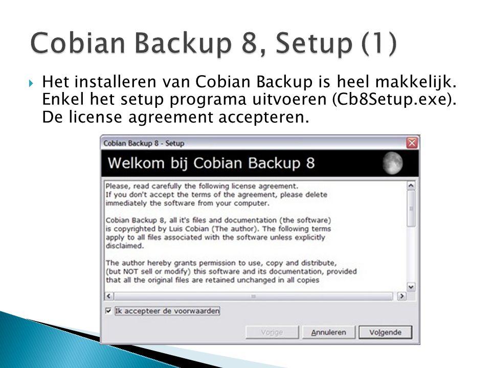 Cobian Backup 8, Setup (1)