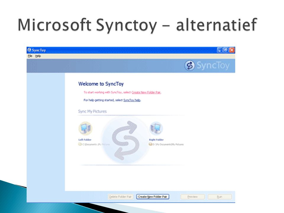 Microsoft Synctoy - alternatief