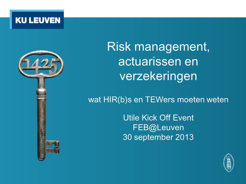Utile Kick Off Event FEB@Leuven 30 september 2013