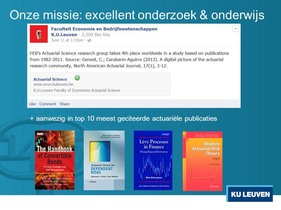 Onze missie: excellent onderzoek & onderwijs