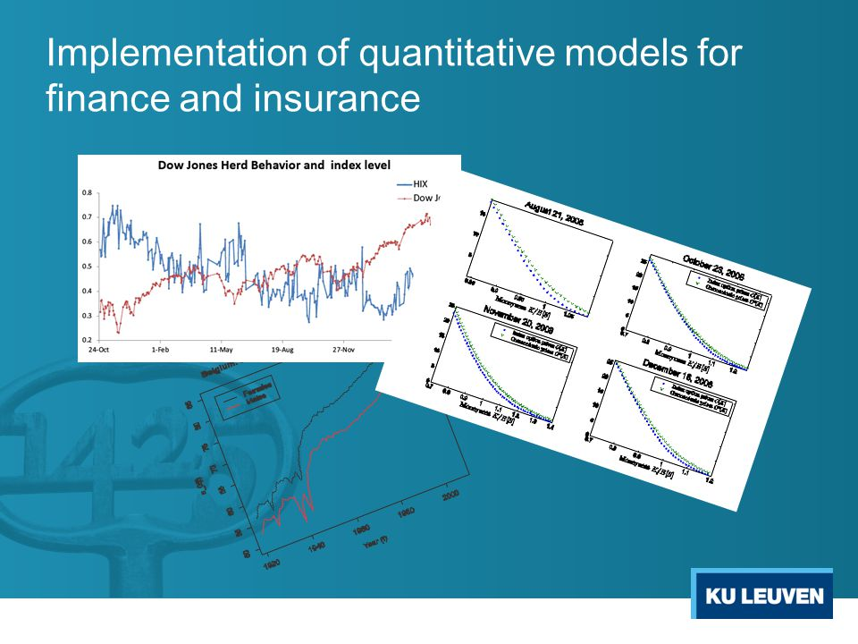 Implementation of quantitative models for finance and insurance