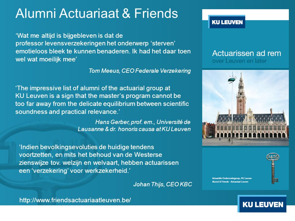 Alumni Actuariaat & Friends