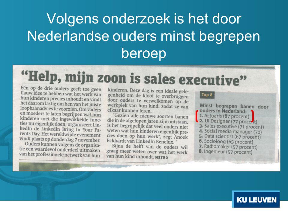 Volgens onderzoek is het door Nederlandse ouders minst begrepen beroep