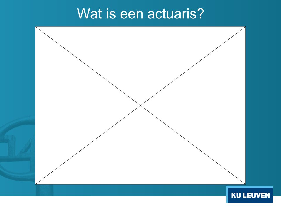 Wat is een actuaris