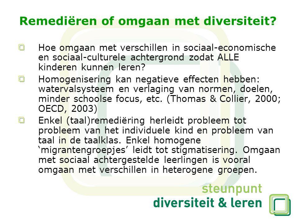 Remediëren of omgaan met diversiteit