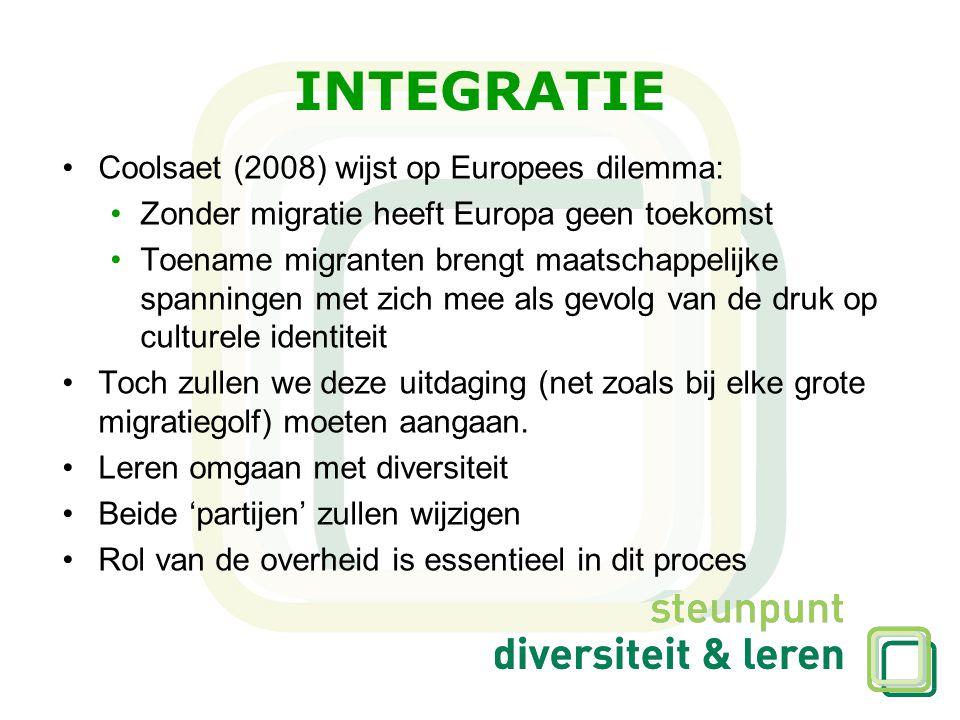 INTEGRATIE Coolsaet (2008) wijst op Europees dilemma:
