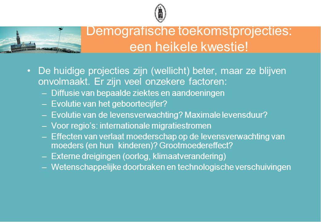 Demografische toekomstprojecties: een heikele kwestie!