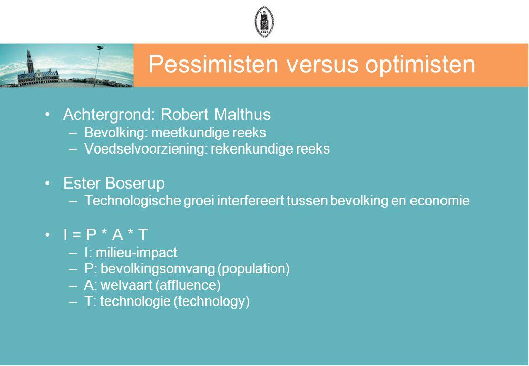 Pessimisten versus optimisten