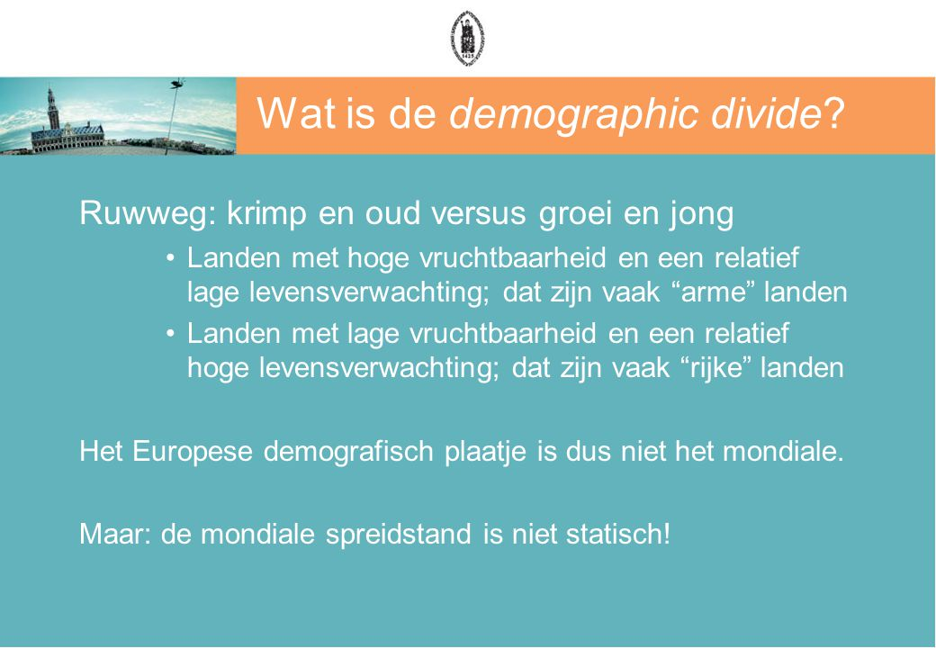Wat is de demographic divide