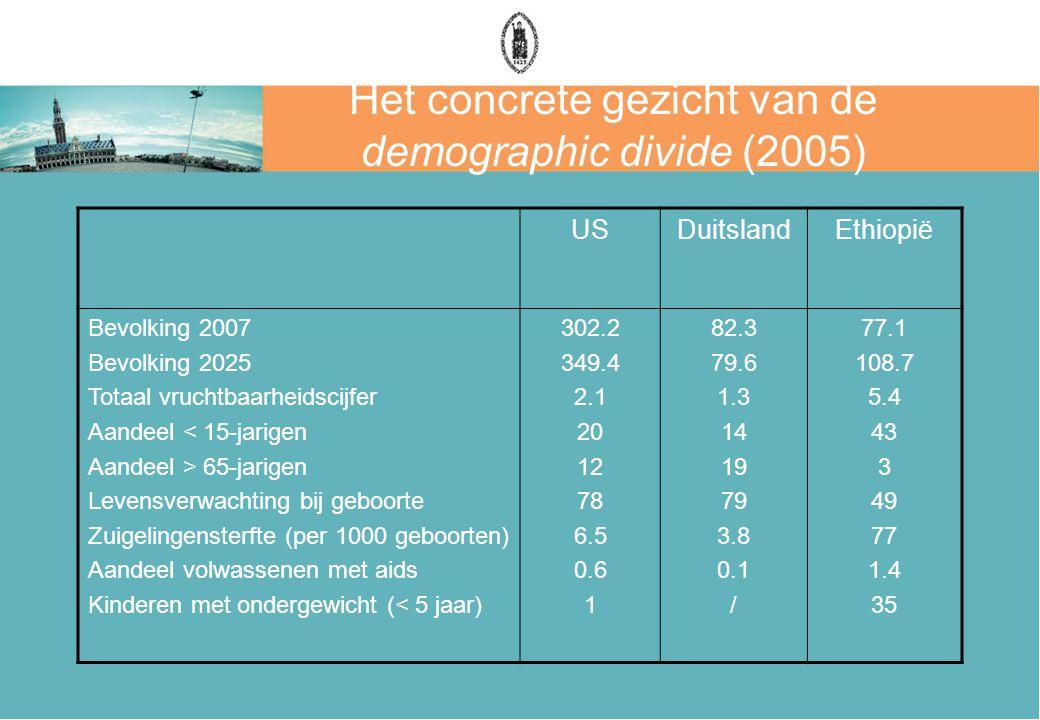 Het concrete gezicht van de demographic divide (2005)