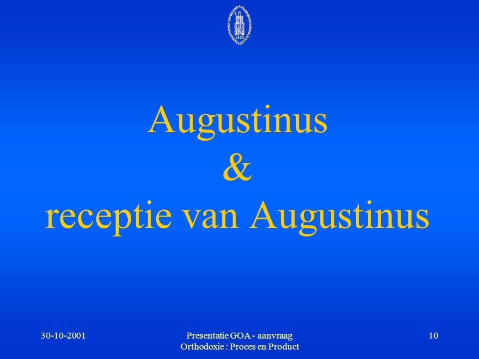 Augustinus & receptie van Augustinus