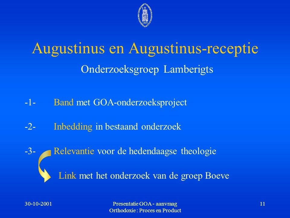 Augustinus en Augustinus-receptie Onderzoeksgroep Lamberigts