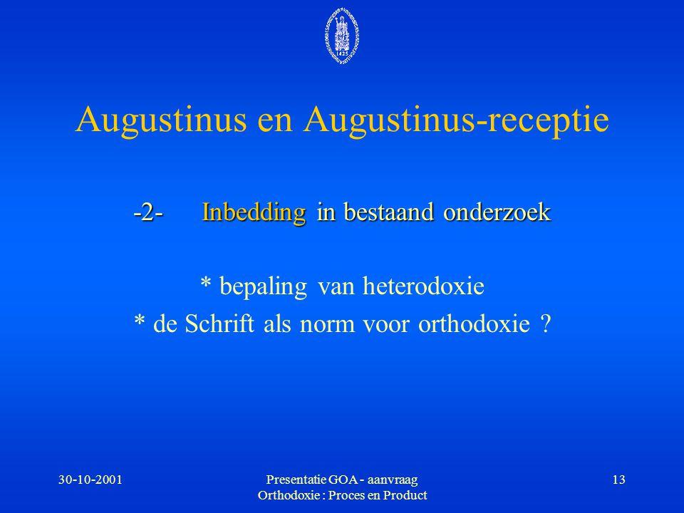 Augustinus en Augustinus-receptie