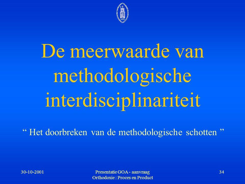 De meerwaarde van methodologische interdisciplinariteit