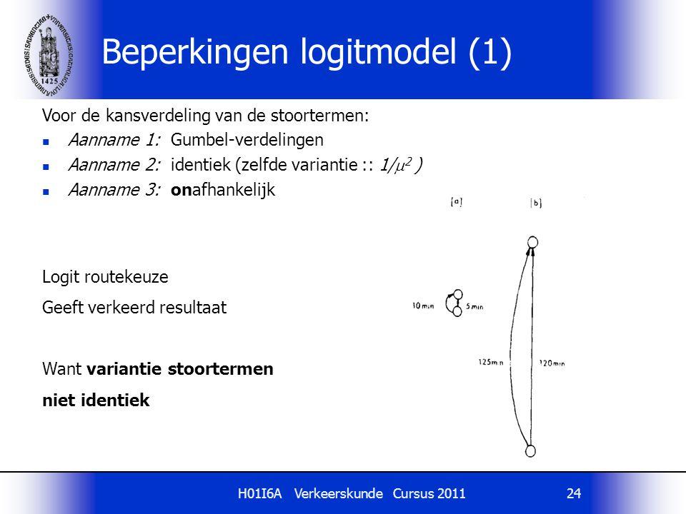 Beperkingen logitmodel (1)