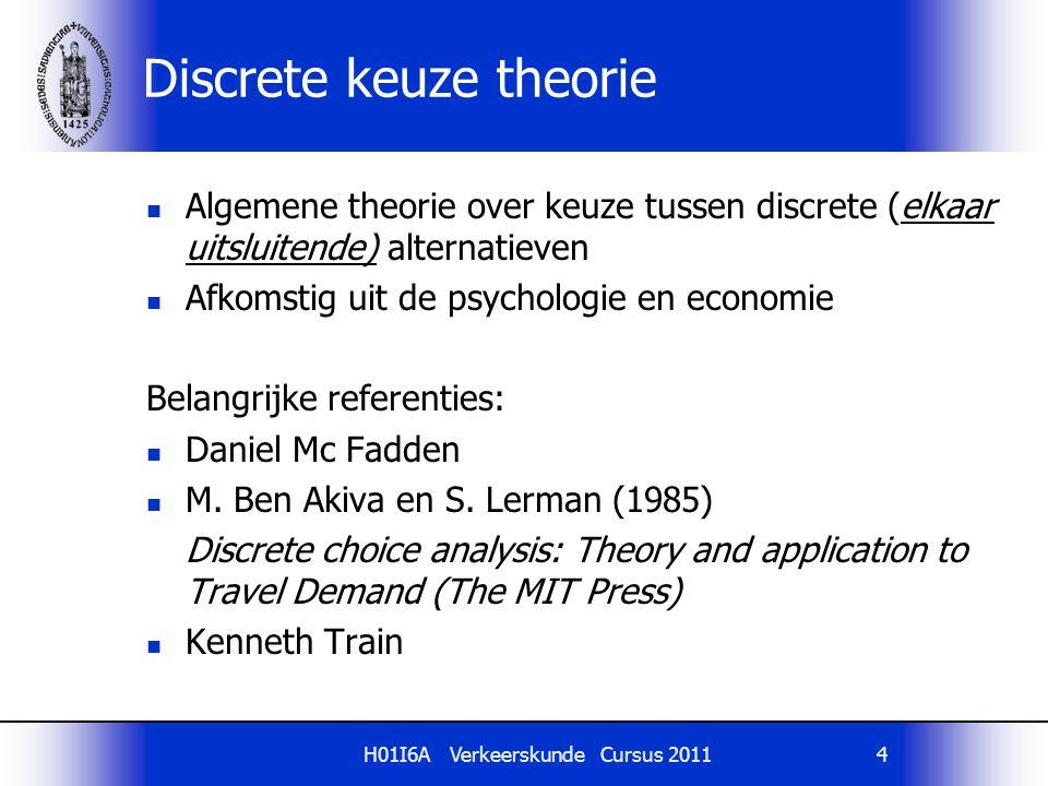 Discrete keuze theorie